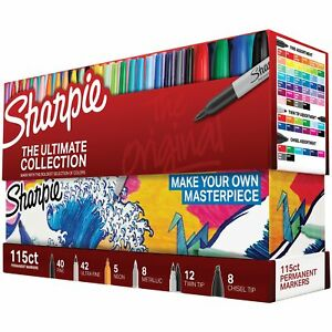 Sanford Sharpie Ultimate Pack Markers 115 Per Package ultimate Assorted Col
