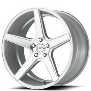 20 Kmc Km685 District Silver Machined Wheels And Tires