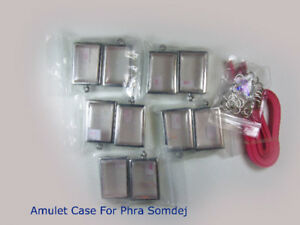 Thai Amulet Frame Case Empty Stainless Steel For Phra Somdej Wat Rakang Or Other