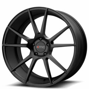 20 Staggered Kmc Km709 Flux Black Wheels And Tires