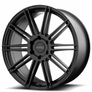 20 Kmc Km707 Channel Black Wheels And Tires