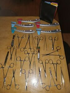 Medical Instruments Surgical Lot Of 29 Items Stainless Steel