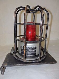 Tomar Electronics Red Mini Strobe Light model 700 12 With Metal Guard G6