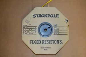 2 000 Pcs Stackpole 33k Ohm Resistors 1 8w 5 Factory Spool