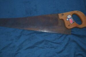 Hand Wood Rip Saw Vintage Antique Wall Hanging