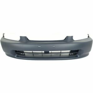 Bumper Cover For 96 98 Honda Civic Front Plastic With License Plate Provision