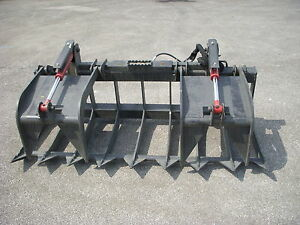 Kubota Skid Steer Attachment 74 Heavy Duty Root Grapple Bucket Free Ship