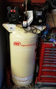 Ingersoll Rand 2340 e Tank Mounted Compressor 5hp 175 Max Psig 14 9cfm 60gal