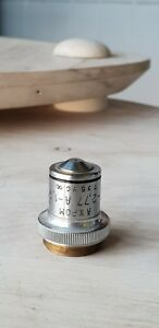 Soviet Vintage Objective Lens Ahrom F 2 79 A 1 30 For Microscope Lomo Zeiss