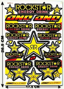 Rockstar Energy Stickers Decals Supercross Race Motogp Bike Atv Mtb Bmx Mx R5