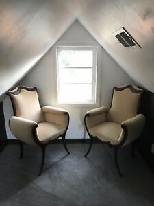 Two Art Deco Chairs 1940 S Original Owner