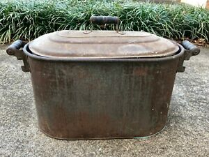 Copper Laundry Wash Tub Boiler With Lid