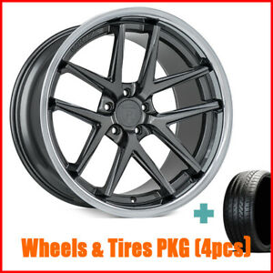 Set4 19 Staggered Rohana Rc9 Gloss Graphite Wheels And Tires