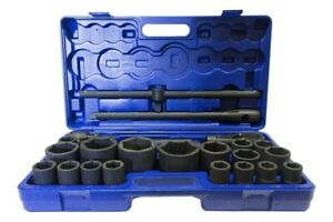 1 And 3 4 Drive Metric Impact Socket Set 21 65mm 26 Pcs