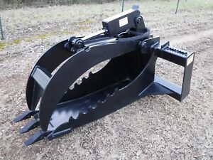 Kubota Skid Steer Extreme Duty Stump Bucket Grapple Attachment Free Shipping