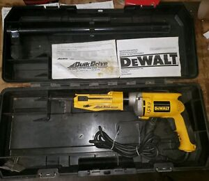Dewalt Quick Drive 2000 Auto Feed Screw Gun dw275qd Great Condition 069