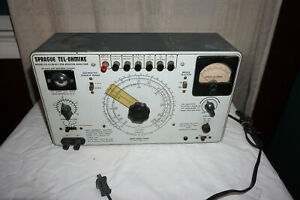 Sprague Model To 4 Tel ohmike Capacitor Resistor Analyzer