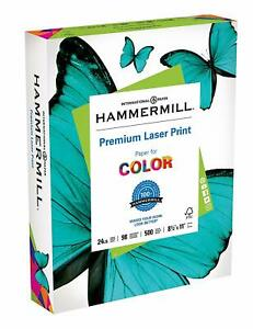 Hammermill Paper laser Print 24lb 8 5x11 letter 98 Bright 500 Sheets Pack Of 2