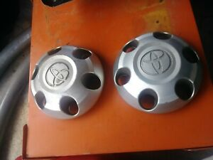 2 Pcs Toyota Tundra Silver Wheel Center Caps Hubcaps 2007 2016 Set Of 2 Used