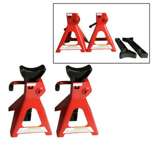 3 Ton Hand Cranking Auto Car Heavy Duty Jack Stands Lift Vehicle 1 Pair