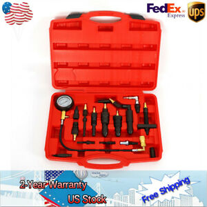 Diesel Engine Compression Tester Test Set Kit For Auto Tractor Semi 0 1000psi Us