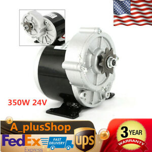 350w 24v Dc Electric Motor Bicycle Bike Scooter Gear Reduction Usa Stock