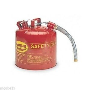 Gas Safety Can Gasoline Diesel Galvanized Metal Portable Fuel Tank Jerry Spout