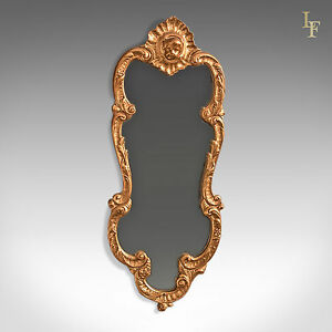 Period Giltwood Wall Mirror Early 20th Century Hall Vanity Rococo Revival