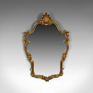 Vintage Wall Mirror Victorian Rococo Revival Manner English Late 20th Century