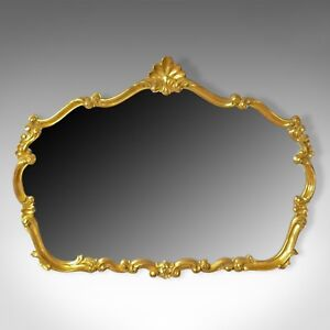 Large Vintage Wall Mirror Rococo Revival Manner English Late 20th Century