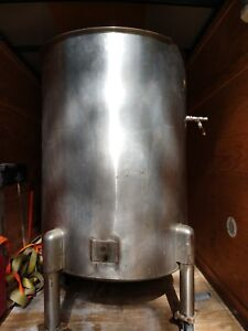 120 Gallon Stainless Steel Cone Bottom Tank Mix Or Storage