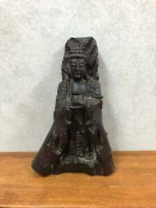 Japanese Buddhist Statues Wooden Sculpture 30 0 Cm Vintage Very Rare F S X3