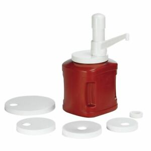 Tablecraft White Polypropylene Condiment Dispenser Pump Kit