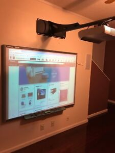 Interactive Smart Board Sb660 And Projector For Home School