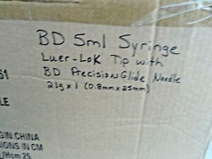 Bd 5ml Syringe Luer lok Tip With Bd Precision Glide Needle 21g X 1