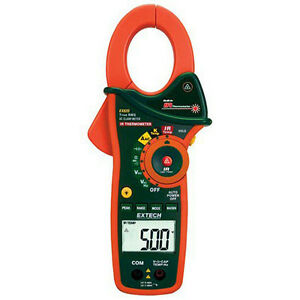 Extech Ex820 1000a True Rms Ac Clamp Meter With Built in Ir Thermometer