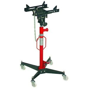 1100 Lb High Lift Transmission Jack With Hands Free Foot Pump