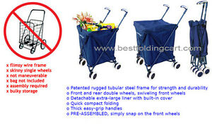 Versacart Transit Folding Cart Original Patented Shopping And Utility Cart