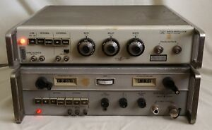 Vintage Signal Generator Modulator 1 8 4 5ghz Hp 8616a 8403a Incl Oval Cable