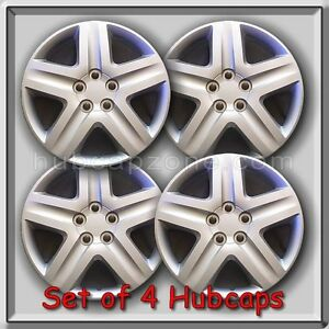 Set Of 4 16 Silver Toyota Matrix Hubcaps For 2003 2010 Matrix Wheel Covers