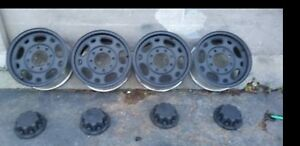 2004 Black Alloy Chevy Gmc 2500hd 3500 He 16 Inch Rims In Good Condition