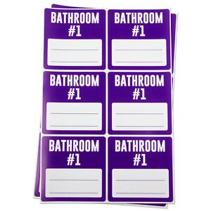 Bathroom 1 Blank Labels Memo Note Home Garage Moving Box Stickers 3 x3 2pk