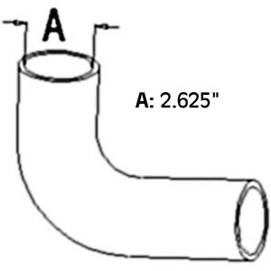 A145619 New Lower Radiator Hose Made To Fit Case ih Tractor Models 1270 1370