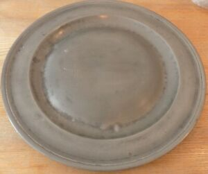 Antique Pewter Charger 15 Diameter Pewter Plate Impressive Large Pewter Charger