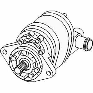 70249469 New Dual Hydraulic Pump Made To Fit Allis Chalmers Tractor 180 185