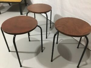 Set 3 Tony Paul Tempo Manner Stacking Tables 18 High Reconditioned