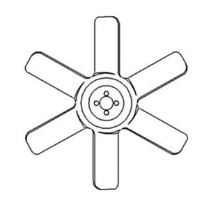 15725 74110 New 6 Blade Fan Made To Fit Kubota Tractor Models M5950 M6030