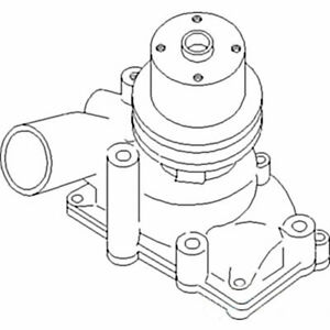 157400as Water Pump W Pulley Fits Mpl Moline Oliver Tractor 1600 1650 1655