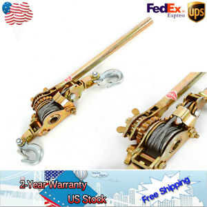 Thick Body Frame Hand Level Puller Come Along Double Hooks Cable Hoist Ratchet