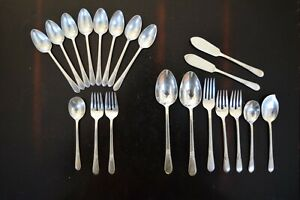 Rogers Bros Adoration Silver Plated Silverware